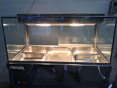 ROBAND COMMERCIAL 3 Bay Cube Design BAIN MARIE Cafe Restaurant Equipment