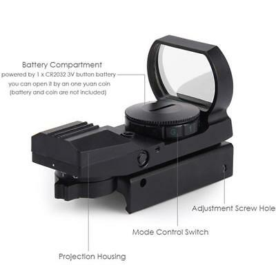 Tactical Holographic Red & Green Dot Sight Scope Reflex Reticle Fit 20mm-Rail