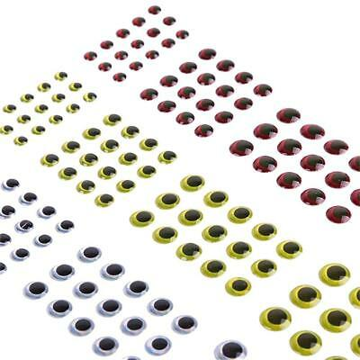 183pcs 3/4/5/6mm 3 Colors 3D Holographic Eyes Fly Fishing Lure Eyes-Crafts
