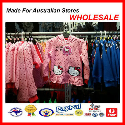 AUS WHOLESALE KIDS GIRLS CLOTHING Hello Kitty Hooded Jacket MYER STOCK From $10