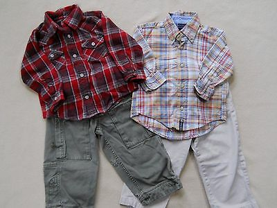Mixed lot of toddler boys pants & shirts size 2/2T/ Old Navy Vintage/ Gap/etc