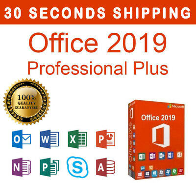 Office 2019 Professional Plus MICROSOFT - 32/64 Bit - GENUINE ESD MULTILANGUAGE