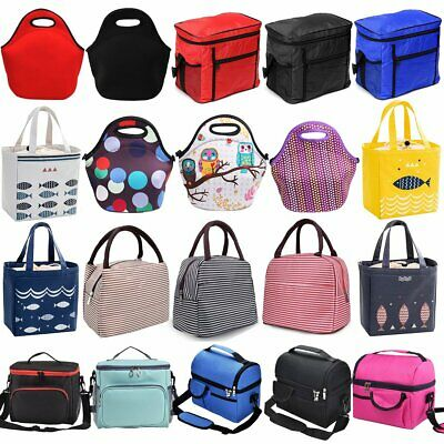 Insulated Picnic Lunch Bag Box Tote Storage Thermal Cooler Kids School Office UK