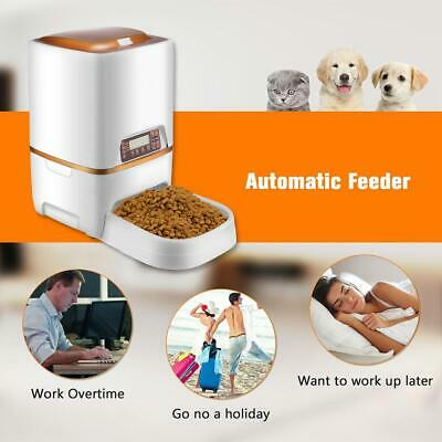 Automatic Pet Food Dispenser Dog Cat Feeder Water Auto Dish Bowl Large Capacity