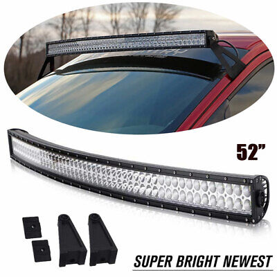For 04-14 Ford F150 52 Inch 300W Curved LED Light Bar Upper Windshield Mounting