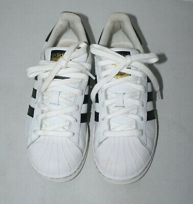 new concept f281e 4bd7c Adidas Womens Superstar Lace Up Sneakers White Black Sz US 5