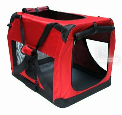 Niche de transport chien - chat - 700 x 520 x 520 mm rouge D40976