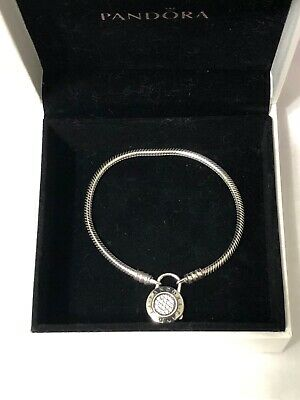 4986a0c9a Authentic Pandora Sterling Silver 17cm /6.7in Locket Clasp Bracelet