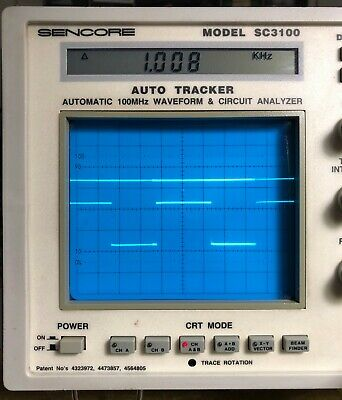 Sencore SC3100 Automatic 100 MHz Waveform & Circuit Analyzer with Box & Manual