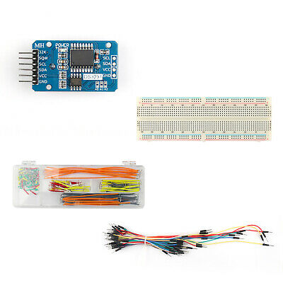DS3231 AT24C32 Clock Timer Memory Module+830 Point Breadboard+Jump Wires 65+140#