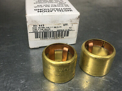 (16) Buss 663 Fuse Reducer Class H 60A to 30A (8 sets of 2)