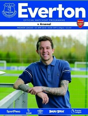 Everton V Arsenal 2018/19 official match Programme mint condition brand new