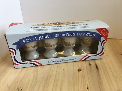 Set of 4 Royal Jubilee 2012 Egg Cups by Regal