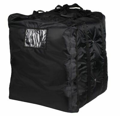 "Choice Insulated Pizza Delivery Bag, Black Soft-Sided Heavy-Duty Nylon, 20"" x 20"