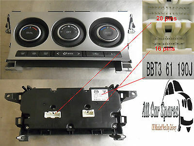 Mazda 3 Heater Controls with Air Conditioning 09-13 BL Mk2