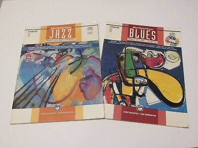 Lot of 2 Alfred Master Tracks Jazz Blues Improvisation Book and Play Along CDs C