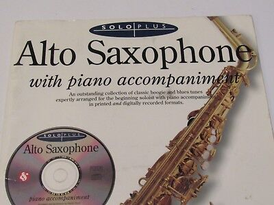 Solo Plus Boogie and Blues for Alto Sax Beginner Sheet Music w/Piano Book CD