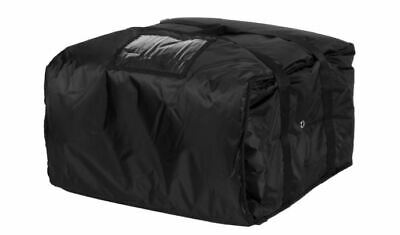 """ServIt Insulated Pizza Delivery Bag, Black Soft-Sided Heavy-Duty Nylon, 20"""" x 20"""