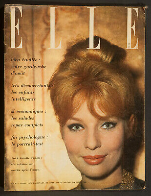 'Elle' French Vintage Magazine Holiday Issue Annette Cover 29 July 1960