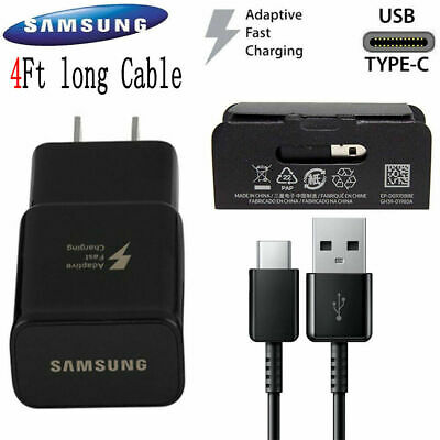 Original Samsung Galaxy S10 Note8 S8 S9 Plus Fast Wall Charger 4FT Type-C Cable