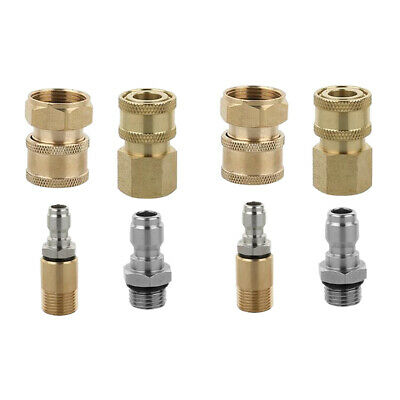 """8pcs Pressure Washer Adapter Set Quick Disconnect Kit M22/M18x1.5mm /1/4""""G"""