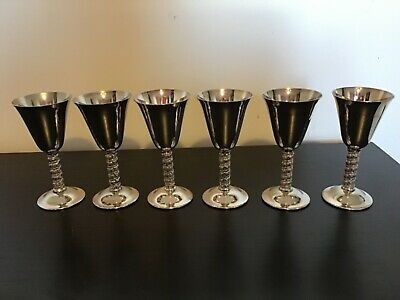 Silver plated set of 6 goblets made in spain
