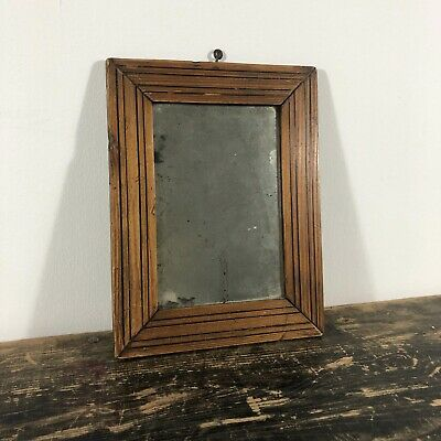 A late 19th century French inlaid shop mirror.