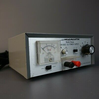 MICRONTA Power Supply DC 0-24V 1 Amp Cat. No. 22-126
