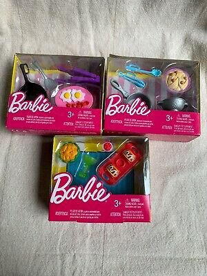 NIB Mattel Barbie Mini Starter Story Accessories--Food Lot