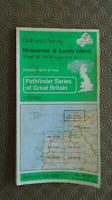 "Ordnance Survey 2.5"" Map SS44/5 Ilfracombe Lundy 1966 Combe Martin Woolacombe"