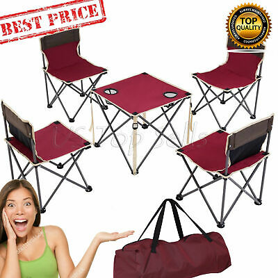 Miraculous Portable Folding Camping Table Chairs Set Outdoor Camp Beach Ibusinesslaw Wood Chair Design Ideas Ibusinesslaworg