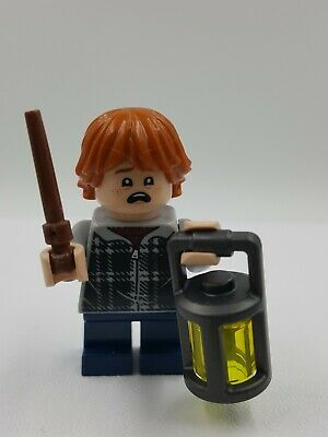 Lego Mini Figurine Harry Potter Ron Weasley Plaid Baguette Magique Aragog