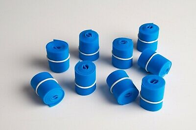 """Tourniquet, 1"""" x 18"""", Blue, Textured, Rolled & Banded- ASP Medical"""