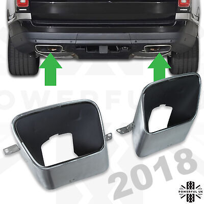 2018 style exhaust tip for Range Rover L405 Vogue tailpipe rear bumper facelift