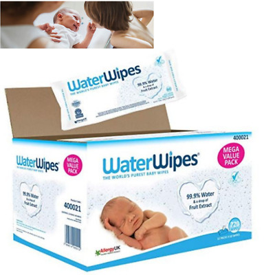 Baby Wipes for Sensitive N Delicate Skin Chemical Free Pure Waterwipes 12 Pack