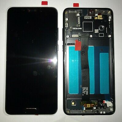 Vetro Display Lcd Touch Screen + Frame Per Huawei P20 Nero Eml-L09 + Gls 24H