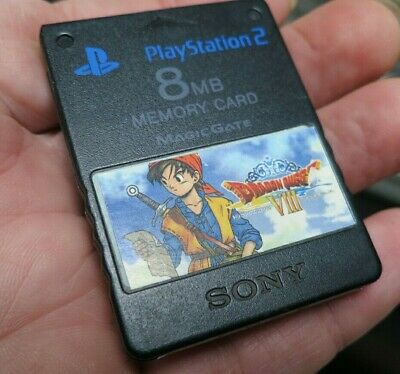 FMCB on Official Sony PlayStation 2 Dragon Quest 8 Memory Card. Free Mcboot PS2