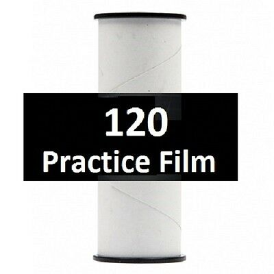 5 Rolls Practice 120 Film - Virgin Film Factory Wrapped on a 120 Spool