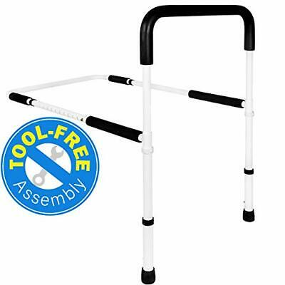 Bed Assist Handle Bedrail Rail Bed Side Helper Adjustable Height Vaunn Med (D)