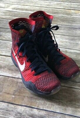 buy popular 88035 21410 Nike Kobe Bryant 10 X Elite High USA 718763-614 Men s Size 9.5 Red White