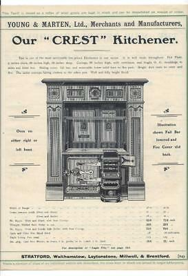 Vintage Architectural Advert Young And Marten Stratford Cast Heating Radiators Merchandise & Memorabilia Collectibles