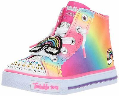 10868 Girls Skechers 12R TWINKLE TOES SHUFFLES PATCH PARTY Shoes