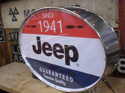 jeep,willys,army,ww2,showroom,4x4,vintage,mancave,lightup sign,garage,workshop
