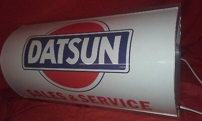 datsun,nissan,cherry,240z,garage,workshop,mancave,light up,sign,vintage,display