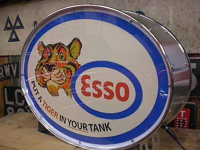 esso,automobilia,petrolania,oil,fuel,tiger,mancave,lightup sign,garage,workshop