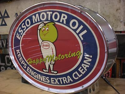 esso,automobilia,petrolania,oil,fuel,drip,mancave,lightup sign,garage,workshop