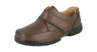 DB Havant 80005B Brown Lea Hook and Loop Loafers 6V