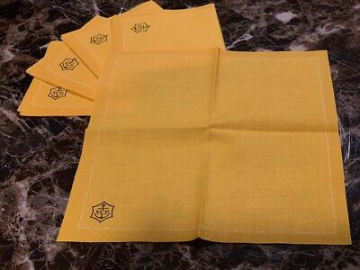 Authentic Veuve Clicquot Signature Yellow CLOTH Cocktail Napkins **Awesome** VCP