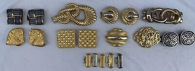 Vintage Lot 19 Pieces Gold & Silver Belt Buckle Accessory Paquette Dotty Smith