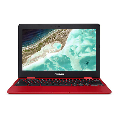 "ASUS C223NA-DH02-RD Chromebook 11.6"", Intel Dual-Core Celeron N3350 Processor up"
